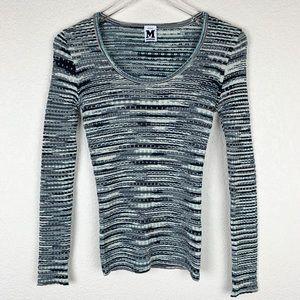 NEW Missoni Merino Wool Metallic Scoop Sweater S